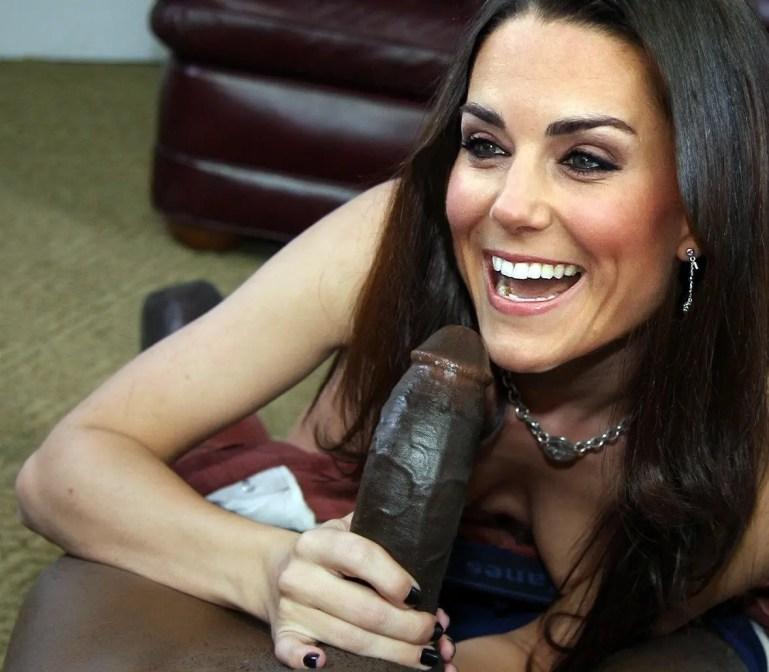 Kate Middleton Can't Resist a Big Black Cock - image  on https://blackcockcult.com