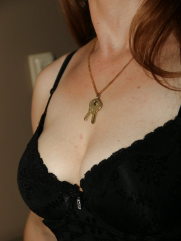 Chastity Keys Make Great Jewelry - I - image  on http://blackcockcult.com