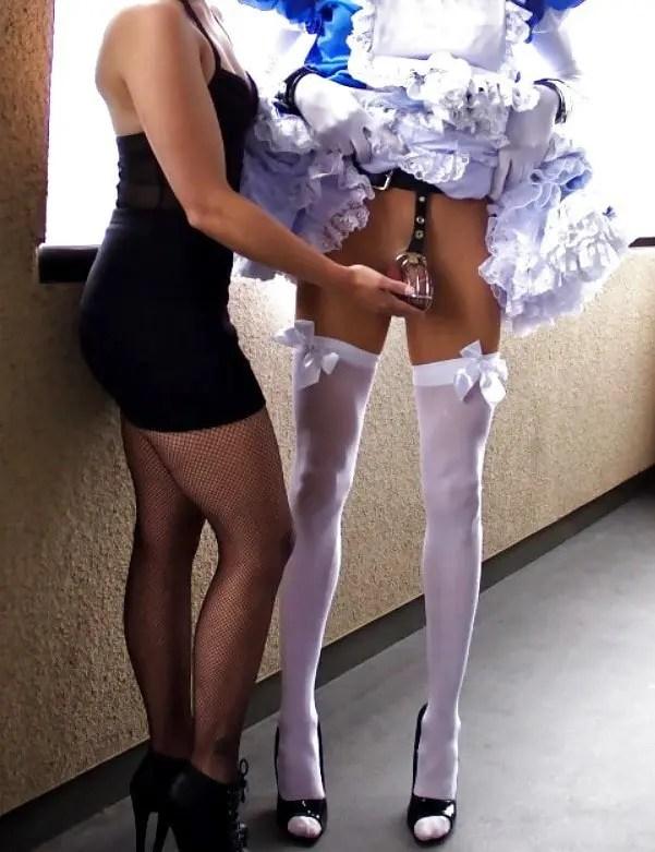 Sissy Chastity Training - image  on https://blackcockcult.com