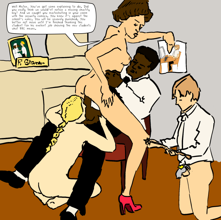 Interracial School: Comic Story by