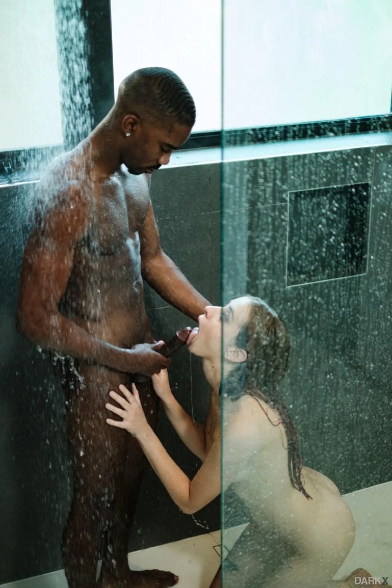 Blacked in the Shower - image  on https://blackcockcult.com