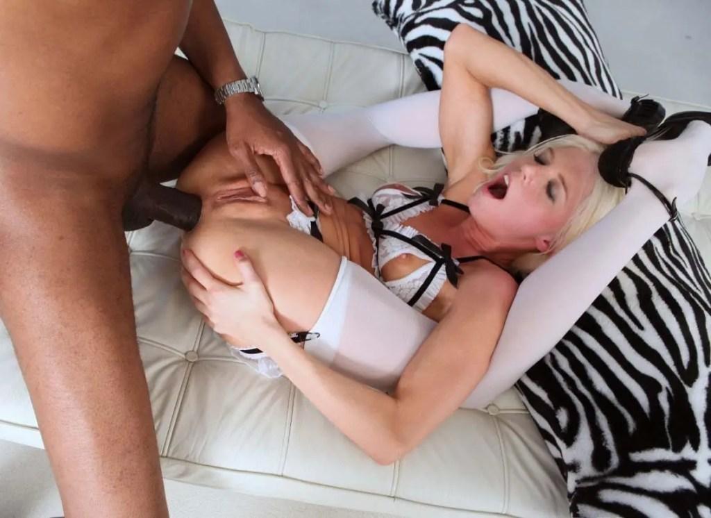 Jayda Diamonde Anal Training With A Black Dildo - image  on https://blackcockcult.com