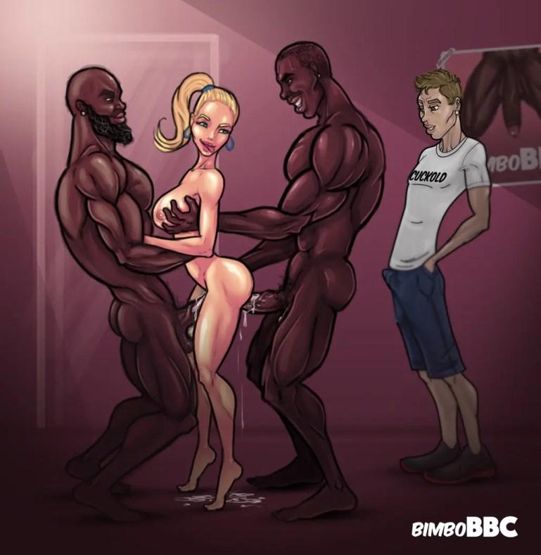 Cuckolding Artwork By BimboBBC - image  on https://blackcockcult.com