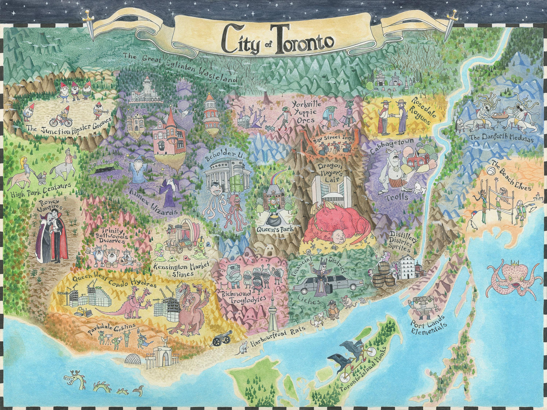 Fantasy Map of Toronto
