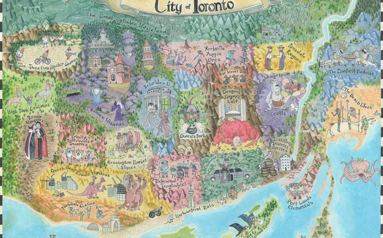 Fantasy Map of Toronto