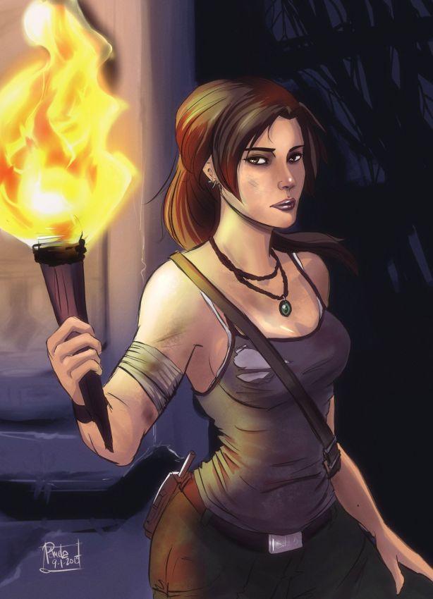 Lara Croft fan art by blackdaisies