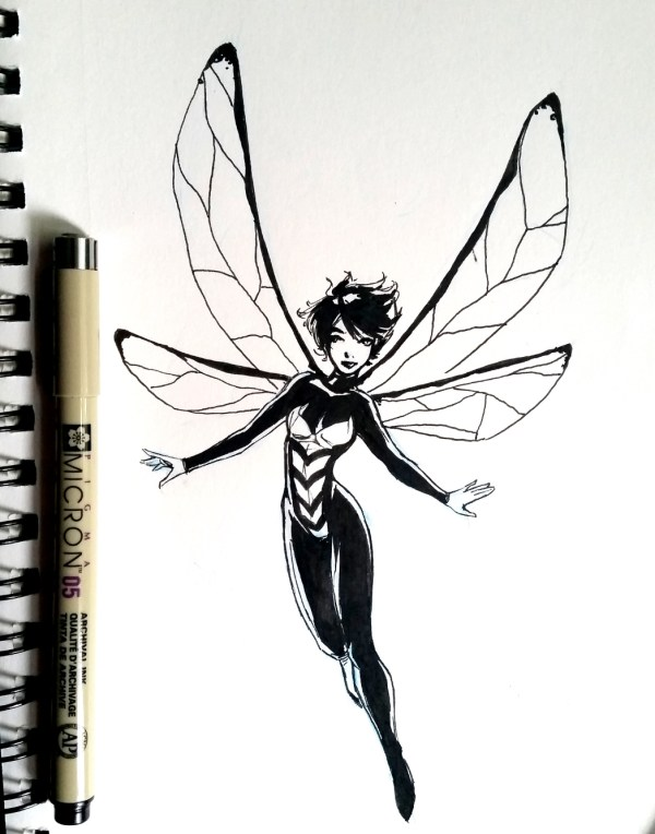 Inktober Day 3 - The Wasp