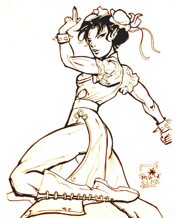Chun-li from Streetfighter 2