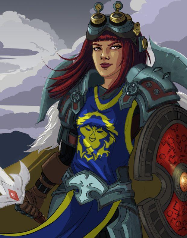Defender World of Warcraft Fan Art