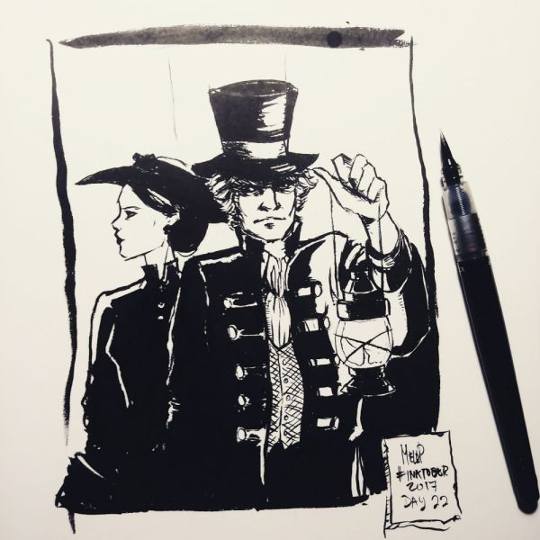 Inktober 2017 Day 22 On the Trail by blackdaisies