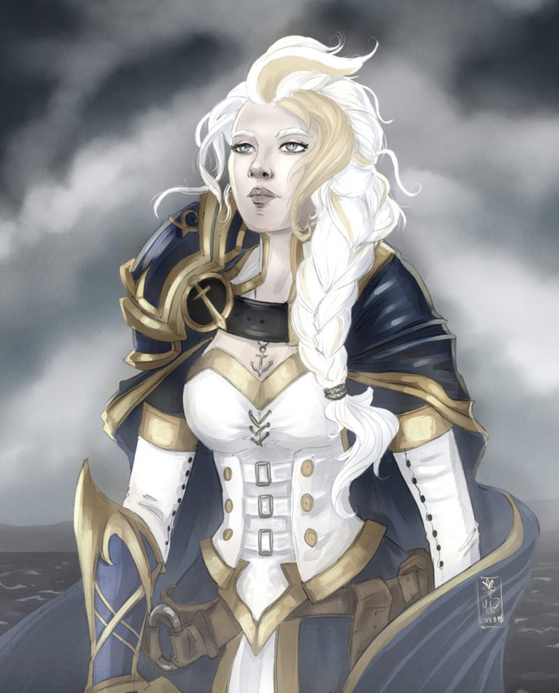Fan art of Jaina Proudmoore from World of Warcraft Battle for Azeroth by blackdaisies