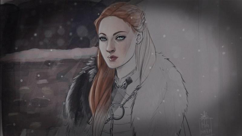 Sansa Stark fan art by Blackdaisies