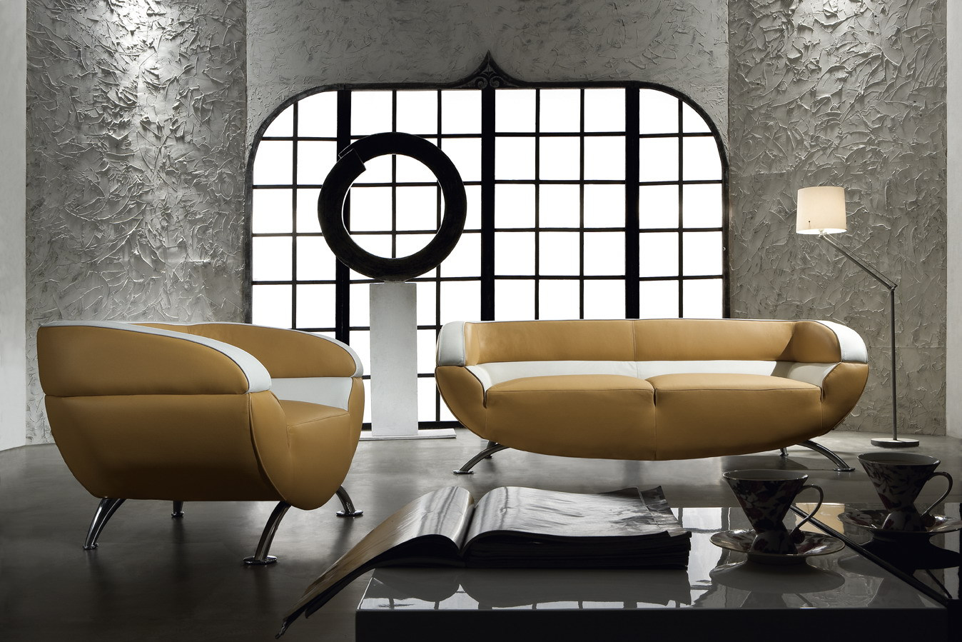 Miss 60 Retro Modern 3 Piece Sofa Set