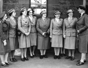 Sister Ruth Palmer ARRC left om left and Sister Ruth Palmer third from left