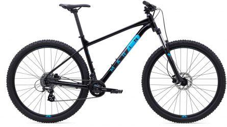 Black Marin hardtail valley trail bike.