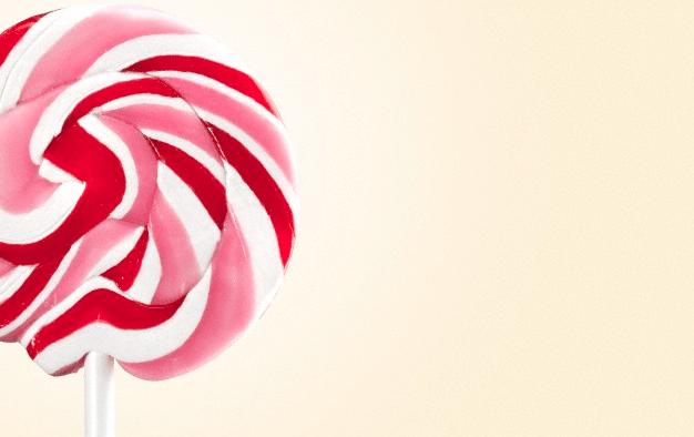 A pink lollipop
