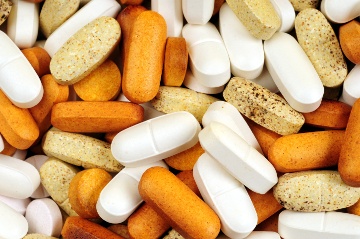 various vitamins and drugs
