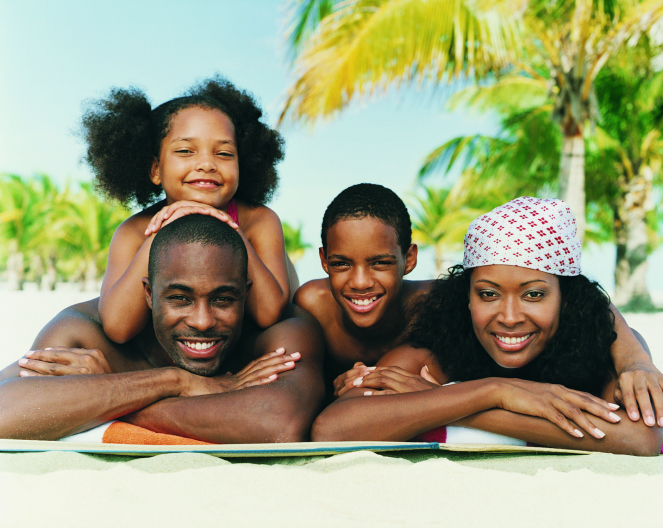 african american family beach travel