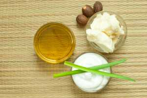 shea butter cream and oil