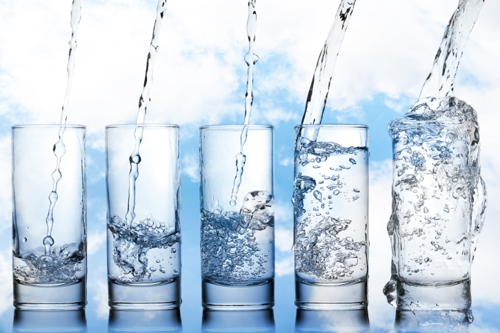 5 glasses of water