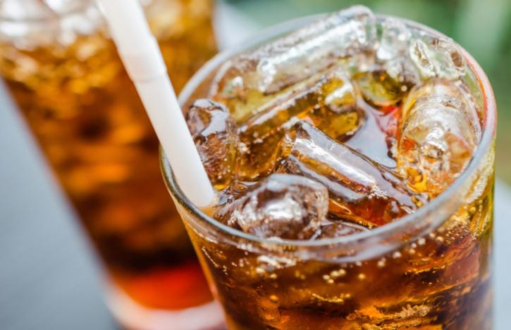 glasses of coke soda