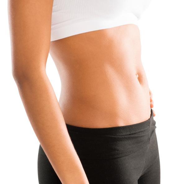 woman flat stomach