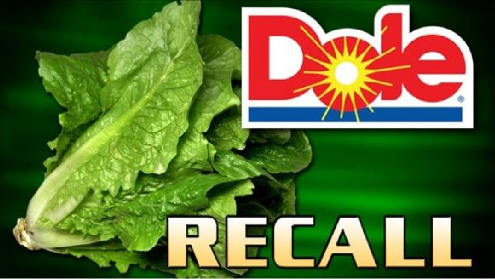 dole recalled packaged salads due to listeria
