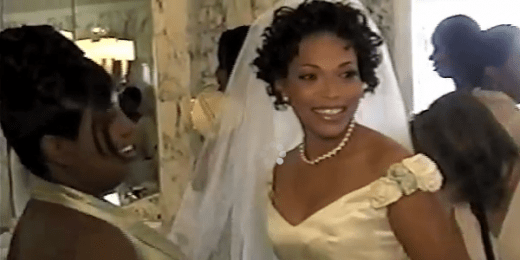 (Tisha Campbell-Martin Wedding Day 2016 / Photo credit: Sreenshot Tisha Campbell-Martin YouTube)