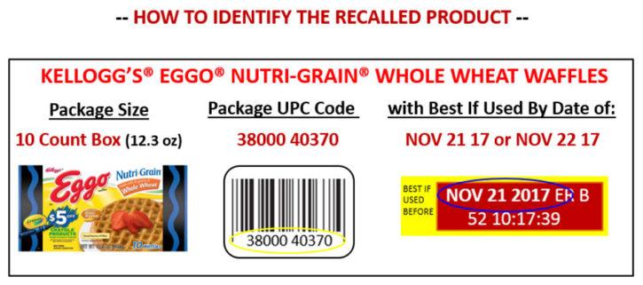 Eggo Recall label