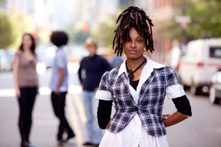 African American woman with locs