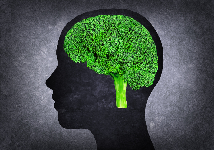 Broccoli brain concept