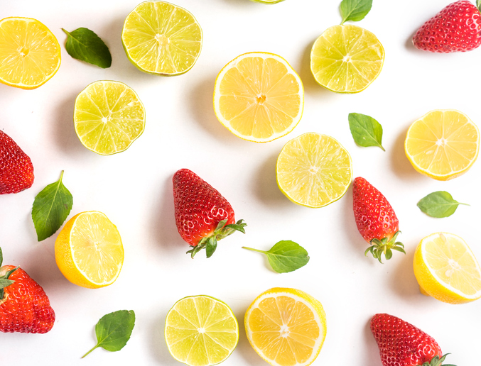 lemons and strawberries