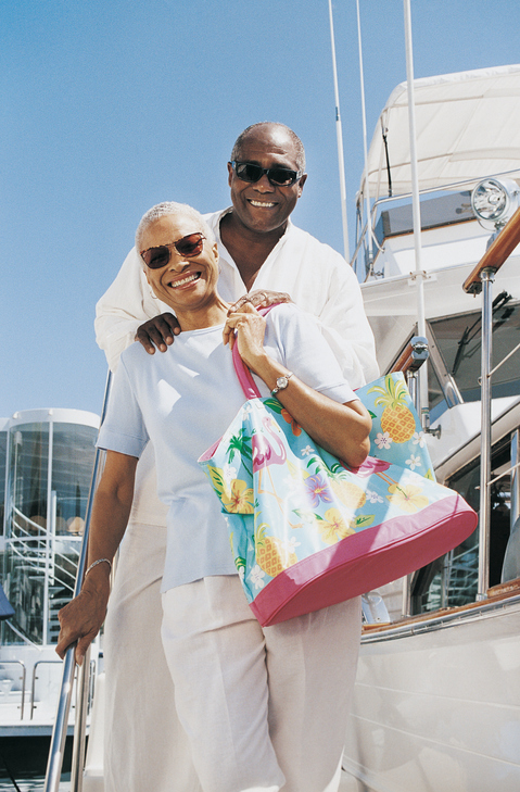 Older African American adults on cruise