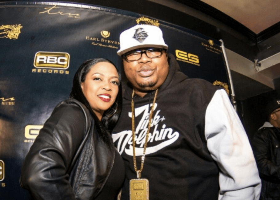 E-40 with kind, Wife Tracy Stevens