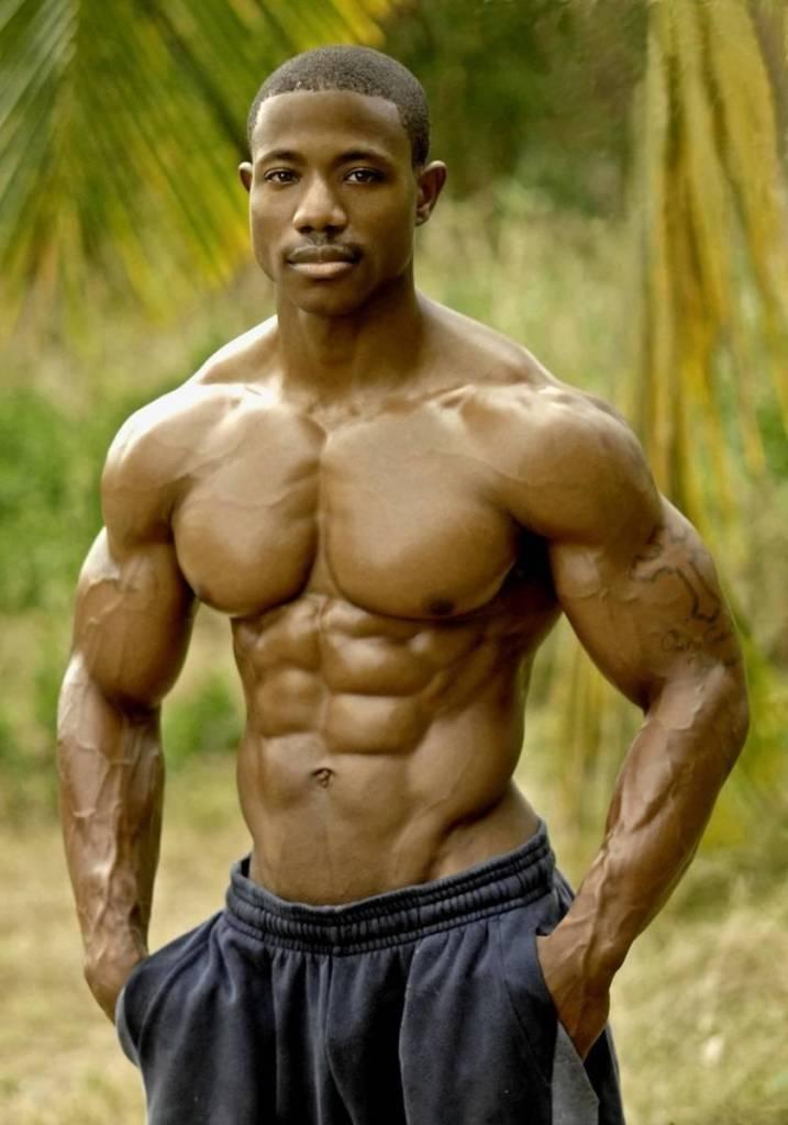 Black men bodybuilders
