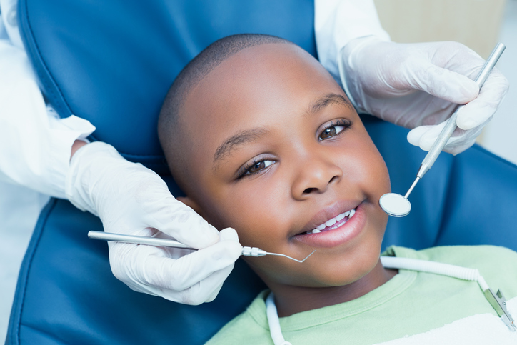 African American booth teeth dentist office
