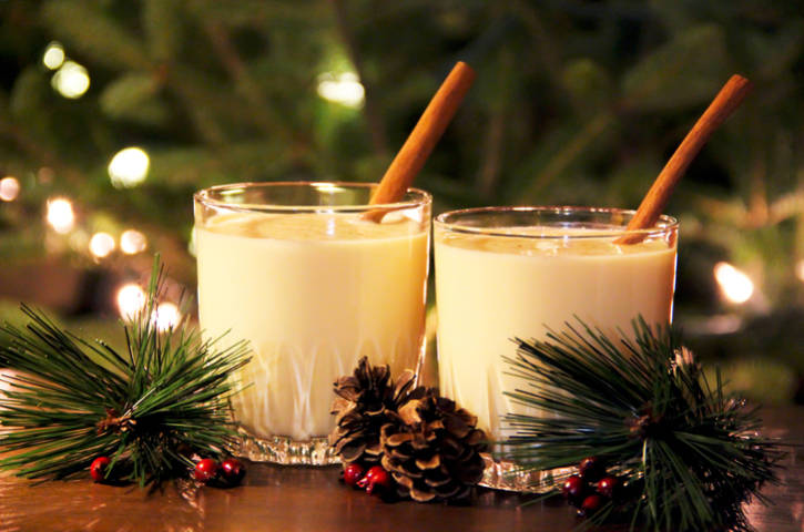 Holiday Christmas egg nog