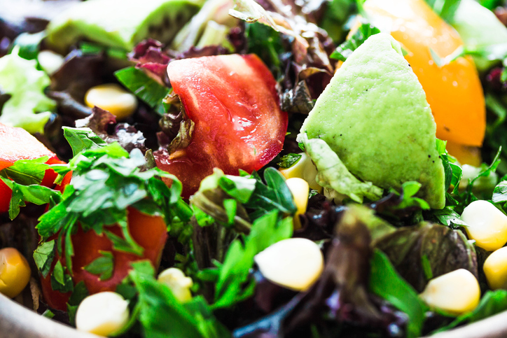 fresh salad close up