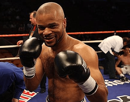 Omar Henry in a boxing ring