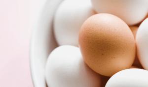A bowl of fresh eggs
