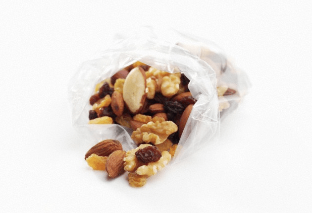 A bag of trail mix