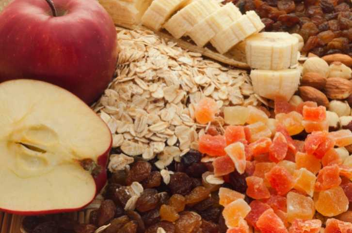 fiber fruits oats