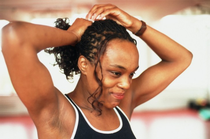 african american woman fitness hair