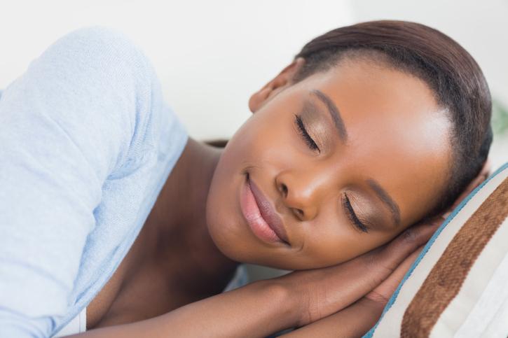 african american woman sleep