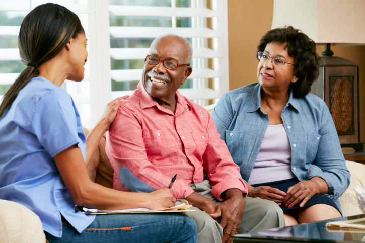 african american nurse elderly patients
