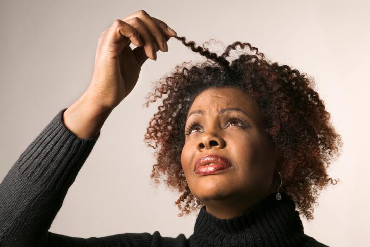older African American woman hair