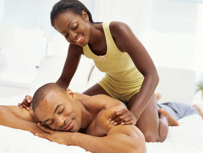 playful couples massage