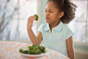 child not wanting to eat veggies
