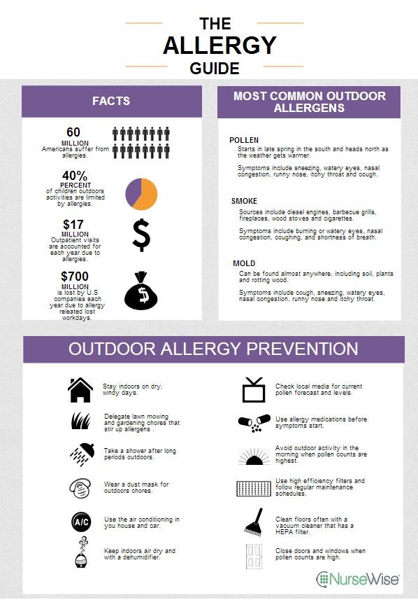 seasonal allergies infographic