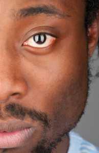 close up man's eye